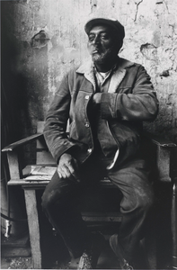 """Paul """"Hots"""" Watkins, Stable Manager for Many Years of Diteman's Stable, 1612 Aliceanna Street, East Baltimore, Maryland, December 1979, from the series Southern Roads/City Pavements"""