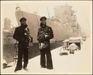 First Predominately Negro Ship Commissioned USS Mason (DE-529), Boston, Massachusetts