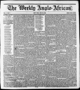 The Weekly Anglo-African. (New York [N.Y.]), Vol. 1, No. 2, Ed. 1 Saturday, July 30, 1859 The Weekly Anglo-African