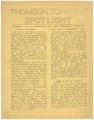 Thomson Township Spotlight, Volume 3, Number 2, Thomson High School, Esko, Minnesota