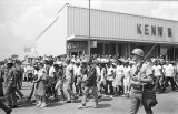 Marchers in Jackson, Mississippi, near the end of the March Against Fear begun by James Meredith.