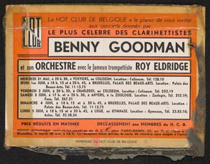 Benny Goodman and his Orchestra with Roy Eldridge, presented by the Hot Club of Belgium