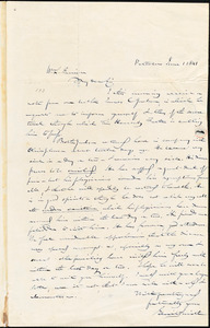 Letter from Gerrit Smith, Peterboro, [New York], to William Lloyd Garrison, 1841 June 1