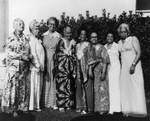 Women in long dresses