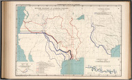 Plate 95. International Boundary Disputes. Western Boundary of Louisiana Purchase (Drainage and Projection from Melish's Map of the United States, 1818). Texas-Mexican Boundary. Elimination of Bancos. Atlas of the Historical Geography of the United States. By Charles O. Paullin, Carnegie Institution of Washington. Edited by John K. Wright, Librarian, American Geographical Society of New York. Published Jointly by Carnegie Institution of Washington and the American Geographical Society of New York, 1932. Plate 95. International Boundary Disputes. Louisiana Purchase, Texas-Mexican Boundary.