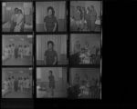 Set of negatives by Clinton Wright including Ray Feaster & Regina, graduating class at SNMH (C.E.P.), NAACP installation at Ruben's, and Brenda McKinney, 1971