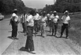 """Martin Luther King, Jr., and others, participating in the """"March Against Fear"""" through Mississippi, begun by James Meredith."""