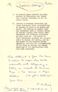 Note from Florence M. Read to W. E. B. Du Bois