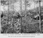 Caves in Salem township, Washington County, Ohio; The cave on the left was a rendezvous for fugitives