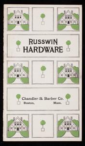 Russwin Hardware, Russell & Erwin Mfg. Co., New Britain, Connecticut