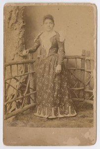 Unknown African American Woman Posing by Fence