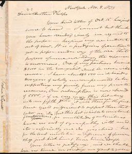 Letter from Joshua Leavitt, New York, to Amos Augustus Phelps, Nov. 8, 1833