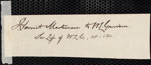 Letter from Harriet Martineau, Ambleside, [England], to William Lloyd Garrison, August 10 / [18]64