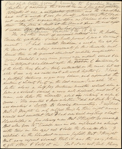 Letter from Edmund Quincy, [Dedham, Mass.], to Caroline Weston, [March 9, 1844]