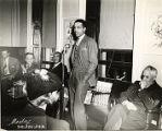 Humbert Howard, Julius Bloch, Horace Pippin, Orrin C. Evans, and Albert Barnes at a Pyramid Club Art Exhibition
