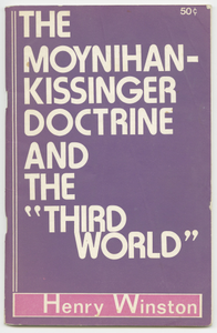 """The Moynihan-Kissinger Doctrine and the """"Third World"""""""