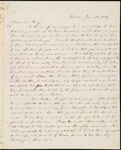 Letter from William Lloyd Garrison, Boston, [Mass.], to George William Benson, June 15, 1839