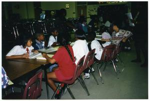 [Students and Teachers in Gates Elementary Auditorium-Cafeteria] San Antonio Chapter of Links Records
