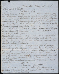 Letter from Marshall L. Scudder, Boston, to Amos Augustus Phelps, May 5 1846