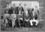 Instructors at Gibbsland, Louisiana YMCA Conference, April 27 - May 2, 1921. Richard Morse, Channing Tobias to Morse's left.