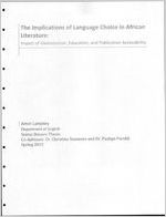 The implications of language choice in African literature: Impact of globalization, education, and publication accessibility