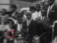 WSB-TV newsfilm clip of Dr. Martin Luther King, Jr. encouraging participation in the March on Washington, 1963