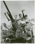 School children learn how anti-aircraft guns operate in the Third War Loan Drive in Washington, D.C