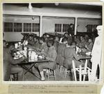 Negro Troops Of Co. B. 3rd. Qm Truck Regt., Being Served Breakfast Upon Arrival At Kelly Field, Texas