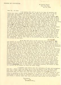 Letter from Martha Gruening to W. E. B. Du Bois