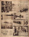 Photomontage of boats on the Cumberland River in Nashville and two ads. Nashville Tennessean, 1929 June 23.