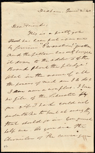Letter from Edmund Quincy, Dedham, [Mass.], to Maria Weston Chapman, June 2, [18]40