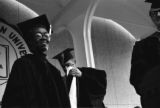 Gwendolyn Brooks was an American poet, author, and teacher, the first African American to win the Pulitzer prize. Brooks visited IWU five times between 1972 and 1999. Brooks with University faculty at the 1973 commencement.