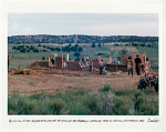 Building first adobe structure on land at New Buffalo Commune. Arroyo Hondo, NM. 1967
