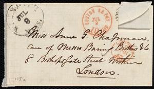 Letter from Maria Weston Chapman, Weymouth, [Mass.], to Anne Greene Chapman Dicey, Sunday, July 6, [1862]