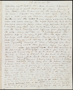 Letter from Anne Warren Weston, 39 Summer Street, [Boston], to Caroline Weston and Deborah Weston, Saturday night, Sept 9 [through Wed., Sept. 13th],1843