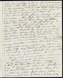 Letter from Caroline Weston, [Boston?], to Anne Warren Weston, [1836?]