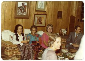 Women Seated at Christmas Party San Antonio Chapter of Links Records