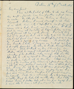 Letter from Richard Davis Webb, Dublin, [Ireland], to Maria Weston Chapman, 16th [day] of 9th month 1845