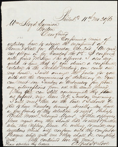 Letter from Alfred Harry Love, Philad[elphi]a, [Pa.], to William Lloyd Garrison, [November] 20 / [18]63