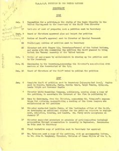 Chronology of NAACP petition to United Nations