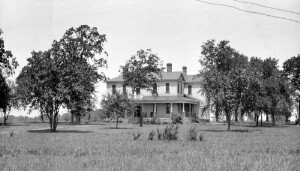 President Wallace Battle and his home. Okolona Industrial School