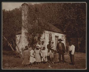 The Whole black family at the Hermitage, Savannah, Ga.