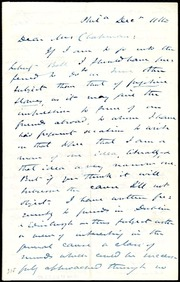 Letter to] Dear Mrs. Chapman [manuscript