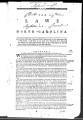 Laws of North Carolina [1786] Laws of the State of North-Carolina