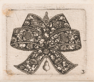 """Pendant in the Form of a Bowknot,"" Plate 3 from ""Goldsmith Ornament Designs"""