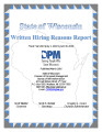 Written hiring reasons report, July 1, 2014 – June 30, 2015