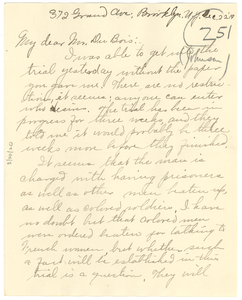Letter from Kathryn M. Johnson to W. E. B. Du Bois