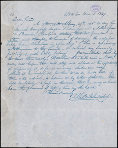 Letter from Thomas McClintock, Waterloo, [N.Y.] to William Lloyd Garrison, [October] 1. 1847