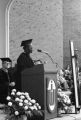Gwendolyn Brooks was an American poet, author, and teacher, the first African American to win the Pulitzer prize. Brooks visited IWU five times between 1972 and 1999. Brooks giving the commencement speech in 1973.