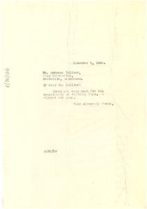 Letter from W. E. B. Du Bois to Fisk University